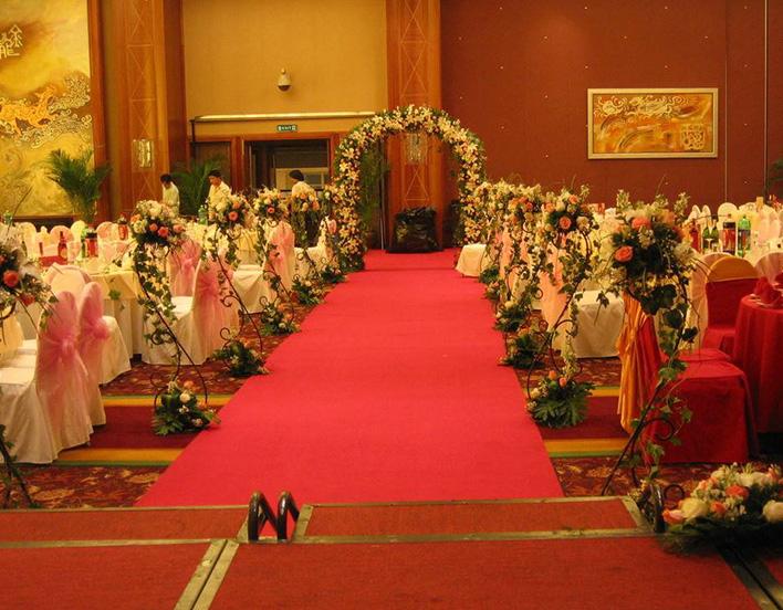 酒店一次性地毯婚礼铺设