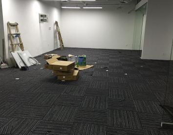 重庆某公司办公室地毯安装