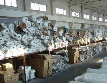 地毯制作原材料仓库