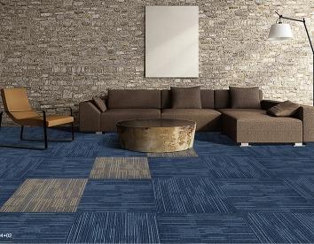 蓝色阿尔卑斯方块地毯